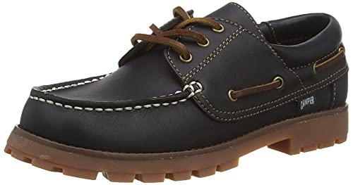 Camper Compas Kids, Zapato de Barco, Azul Oscuro, 35 EU