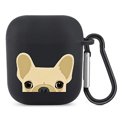 SESLEBE AirPods Case Cover for Apple AirPods 1&2 Shockproof Full Protective Silicone AirPods Skin Case Cover Cute with Keychain Boston Terrier and French Bulldog