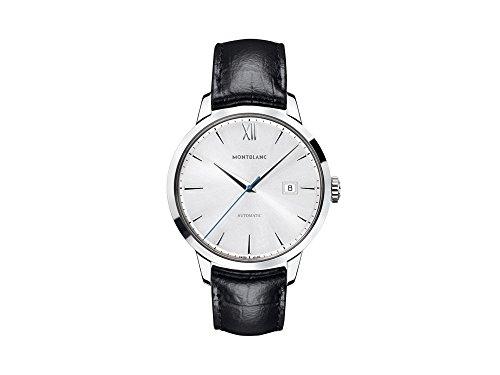 Montblanc Meisterstuck Heritage 111622 - Reloj para hombre con esfera plateada
