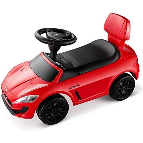 HengYue Niños Wiggle Car Swing Cars Scooter Children's Twist Toy Car Wiggle Gyro Twist con Ruedas Iluminadas,Red