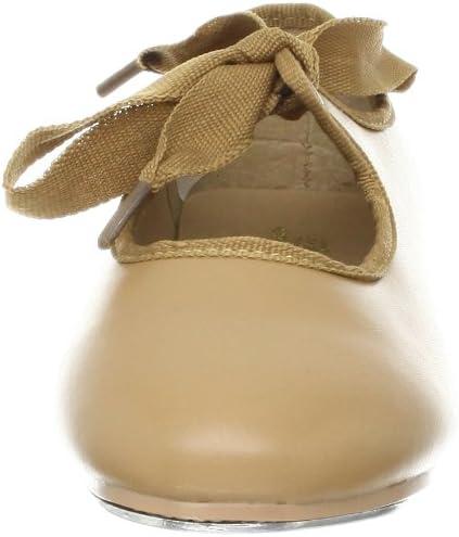 Dance Class Unisex-Child Beginner Tie Tap Shoes
