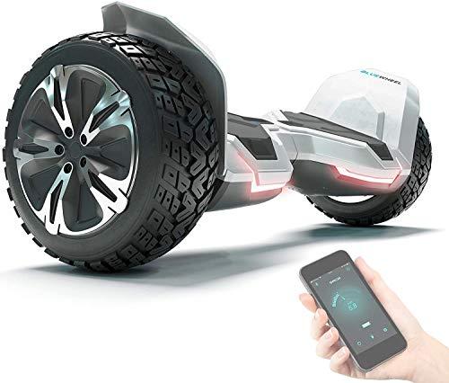 """8.5\"""" Premium Offroad Hoverboard Bluewheel HX510 SUV Deutsche Qualitäts Marke- Kinder Sicherheitsmodus & App - Bluetooth - Starker Dual Motor - Elektro Skateboard Self Balance Scooter (HX510_White)"""