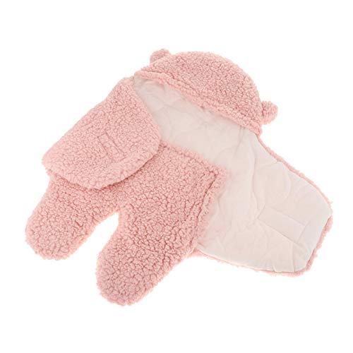 Perfeclan Manta para Envolver, Felpa Ultra Suave Esencial para bebés, Saco de Dormir para Cochecito, Envoltura para Envolver, Envoltura para Envolver cálida - S Pink