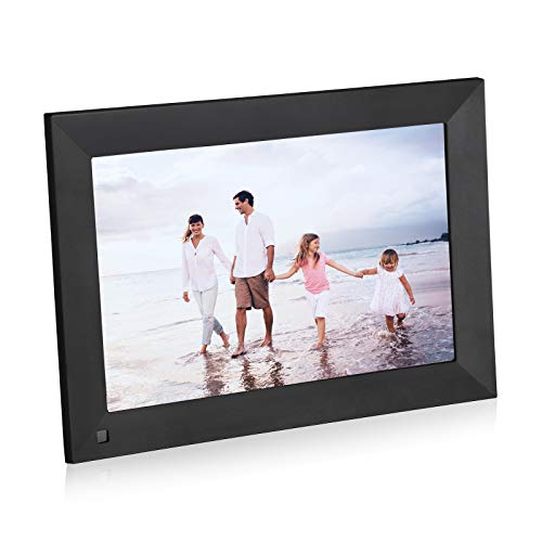 Powerextra 10.1 Zoll Smart WiFi Digitaler Bilderrahmen mit Touchscreen HD Display 16 GB Speicherplatz, Senden von Fotos oder kleinen Videos von überall, Teilen von Fotos über App, E-Mail, Cloud