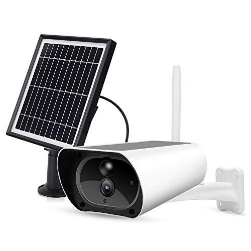 Cocoarm Batteria della Telecamera di Sicurezza Esterna con Pannello Solare Telecamera WiFi 1080P con rilevamento del Movimento Visione Notturna IP65 Impermeabile per la Sicurezza Domestica