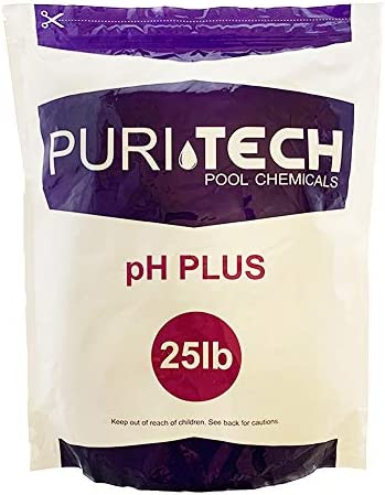 Puri Tech Chemicals pH Plus 25lb Resealable Bag for Swimming Pools Spas pH Increaser Up Balancer product image