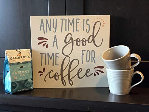 onbekend Wall Art Anytime is een goed moment voor koffie - Coffee Signs - Custom Signs - Keuken Decor - Tekenen over koffie - Tekenen voor moeder - Koffie decor houten plaque, aangepaste gift