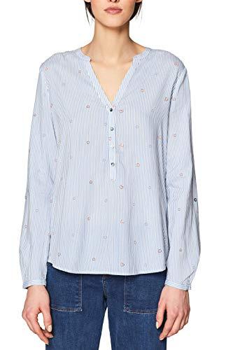 ESPRIT Damen 999EE1F803 Bluse, Blau (Light Blue 440), (Herstellergröße: 44)