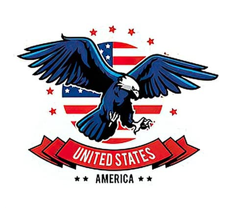 6 Sheets Temporary Tattoos Max 83% OFF of American Animal America Art Eagle Max 58% OFF