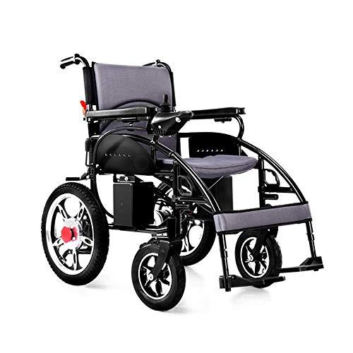 DLY Ältere Behinderte Behinderte Ältere Allrad-Pflege Faltbarer, Leichter, Intelligenter Rollstuhl, Traglast 150 Kg, Größe des Eabs-Bremssystems: 113 * 65 * 91 cm Rollstuhl, Bleiakkus 12a