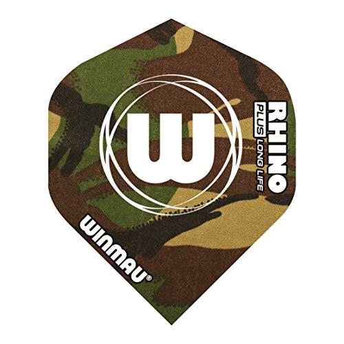 WINMAU Rhino 150 Plus Green Camouflage Dart Flights - 1 Sätze pro Packung (3 Flights insgesamt)