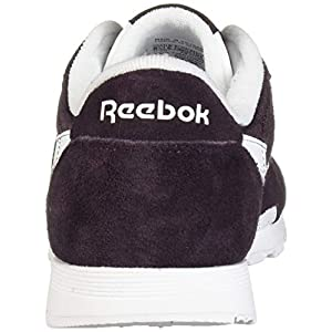 Reebok Women's Classic Nylon Running Shoe, Eggplant/White/Eggplant, 8 M US