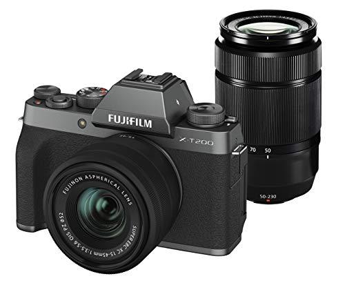 FUJIFILM ミラーレス一眼カメラ X-T200ダブルズームレンズキット ダークシルバー X-T200WZLK-DS