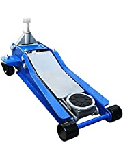 WEIMALL ガレージジャッキ 低床 3t デュアルポンプ式 最低位75mm/最高位500mm ローダウン車対応 ジャッキアップ ジャッキ (ブルー)
