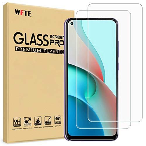 WFTE [2-Pack] Protector de Pantalla para Xiaomi Redmi Note 9 5G,9H Dureza,Huellas...
