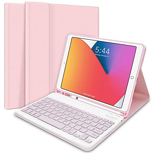 iPad Keyboard Case 10.2' 8th/7th Gen for iPad 2020/2019, Wireless...