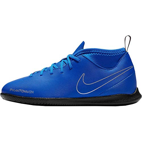 Nike Unisex-Kinder Jr. Phantom Vision Club Dynamic Fit IC Fußballschuhe, Blau (Racer Blue/Black-Metallic Silv 400), 27 EU