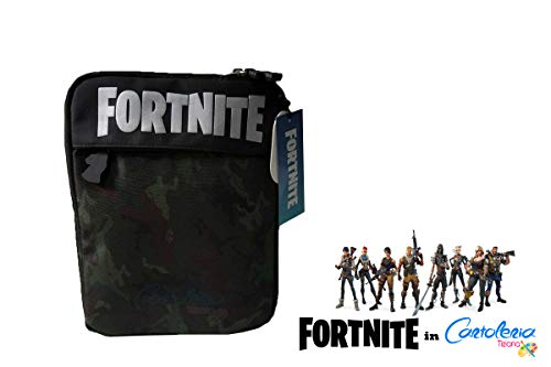 POCHETTE FORTNITE GREEN 2 ZIP 27,5 x 22,5 cm VERDE/BRUIN tablet sleeve