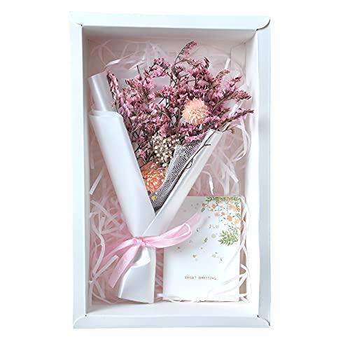 Caja de regalo creativa con ramo de flores secas hechas a mano...