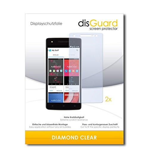 disGuard 2 x Bildschirmschutzfolie Wileyfox Storm Schutzfolie Folie DiamondClear unsichtbar