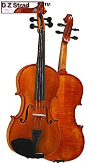 D Z Strad Violin Model 101 with Solid Wood with Case, Bow, and Rosin (4/4 - Size)