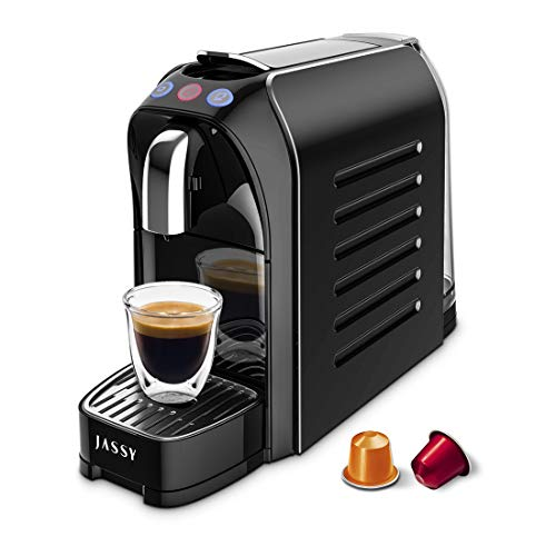 Small Espresso Coffee Machine Coffee Capsule Maker for Nespresso Compatible Capsules with 19 Bar Fast Heating Pump,Removal Water Tank,Programmable Cups Control,1255W