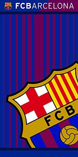 Fc Barcelona 113075-FCB202, Toalla, Poliéster, Azulgrana, 70 x 140 cm