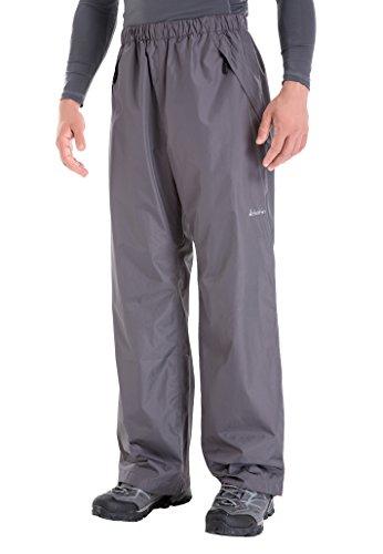 Clothin Men's Rain Pants Waterproof Elastic-Waist Drawstring with Front Zipper Pockets Basic Insulated Workout