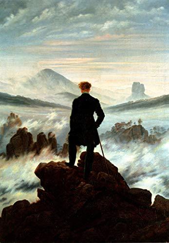 Tainsi Plakat - Der Wanderer über dem Nebelmeer (1818) Caspar David Friedrich, Rom,Poster 12x18inches,30x46cm