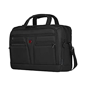"""41DfU7e1tAL. SS300  - WENGER 606465 BC Star 14""""/16"""" Expandable Laptop Brief, SmartGuard Laptop Protection with a QuickAcess Tablet tocket in Black {18 litres}"""