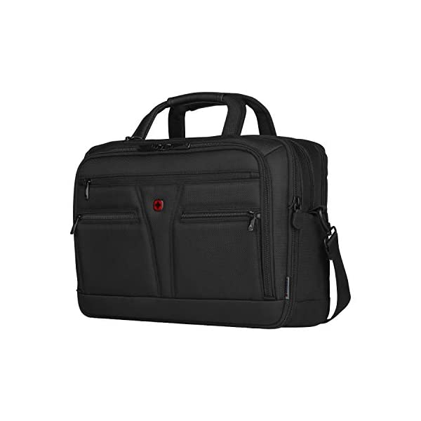 """41DfU7e1tAL. SS600  - WENGER 606465 BC Star 14""""/16"""" Expandable Laptop Brief, SmartGuard Laptop Protection with a QuickAcess Tablet tocket in Black {18 litres}"""