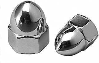 Cy-Chrome MPB103 Chrome High Crown Acorn Nuts Alloy Steel 1/4''-20 Chrome (Pack of 10)