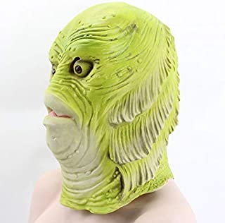 MKWSJZDK Mask Monster Latex Fish Mask Creature from The Black Lagoon Props Adult Halloween Party Masks