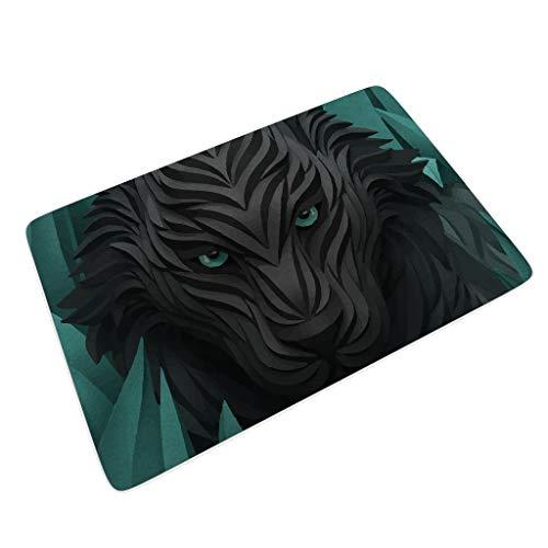 Luipaard Grappige vloermatten slipvast perfecte kleur/grootte met anti-slip rubberen achterkant voor veranda luipaard