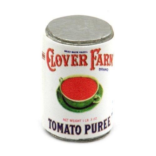 MyTinyWorld 2 X Maison de Poupées Miniature Clover Ferme Tomate Purée Boite (Années 1920)
