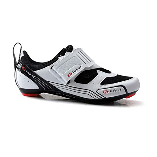 FACAI Cycling Shoes Hard Outsole Bicycle Shoes SPD Cleat Bike Shoes Lightweight Road Cycle Shoe Men Superstar Shoes,White-44