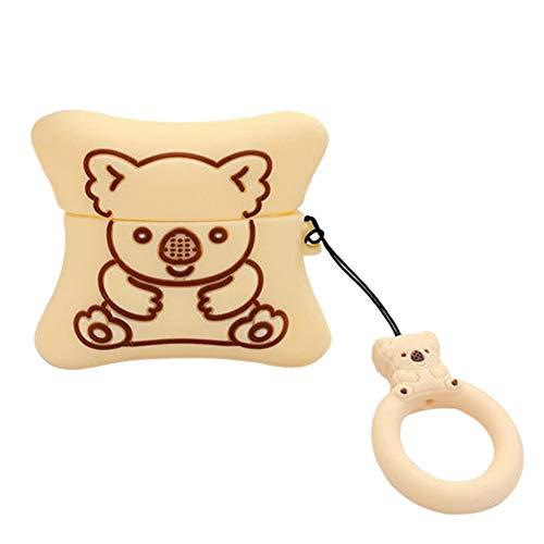 N/A Schutzhülle für AirPods Pro, schöne Cartoon-Koalabär-Kekse, Kopfhörer-Hülle für Airpods Pro mit Fingerring-Riemen