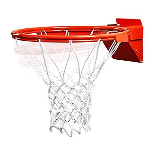 PROGOAL Basketball Rim Replacement, Breakaway Heavy Duty Flex Rim 5/8-In, Standard Goal Reinforced Mounting Bracket Indoor and Outdoor (1-Spring Basketball Rim)