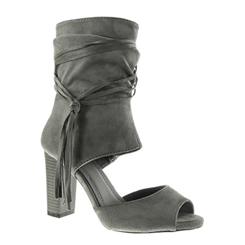 Angkorly - Chaussure Mode Bottine Sandale Peep-Toe...