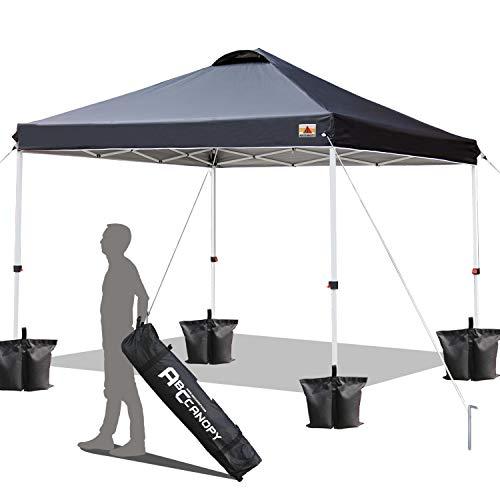 ABCCANOPY 3x3M Pavillon wasserdicht Pop-Up Gartenpavillon Festival Sonnenschutz,inkl. Tasche,schwarz