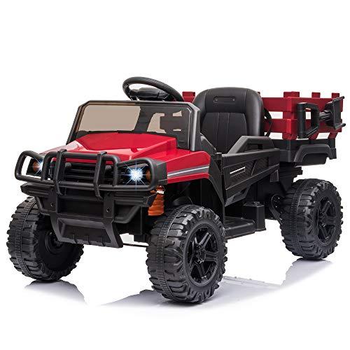 HOMCOM Voiture électrique Enfant 3 à 8 Ans - Buggy Quad électrique 2 Moteurs 35 W - V. Max. 5 Km/h - télécommande - Effets Lumineux sonores - Rouge