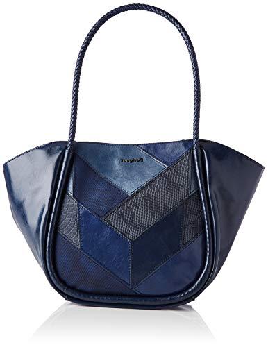 Desigual PU Shoulder Bag, Borsa a Tracolla. Donna, Blu, U