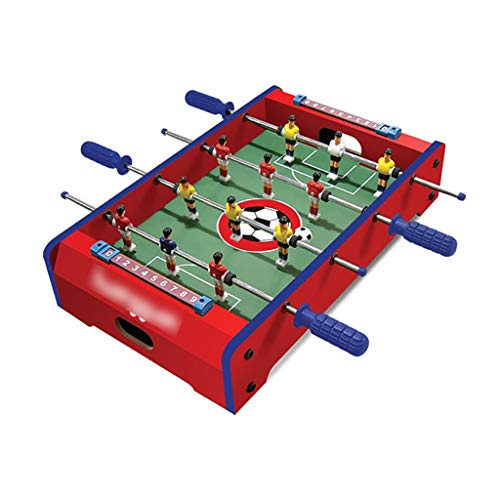 Great Deal! Football Table Foosball Tables Football Games Wood Fiberboard Non-Slip Texture Handle Stainless Steel Club Screw Fixing Safe and Non-Toxic Gift for Children Foosball Tables