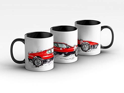 gasoline.gallery Tasse - Ferrari 512 BB - 1976 Kaffeebecher Schwarz