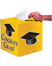 Creative Converting Congrats Grad Card Holder Box, School Bus Yellow - 083315