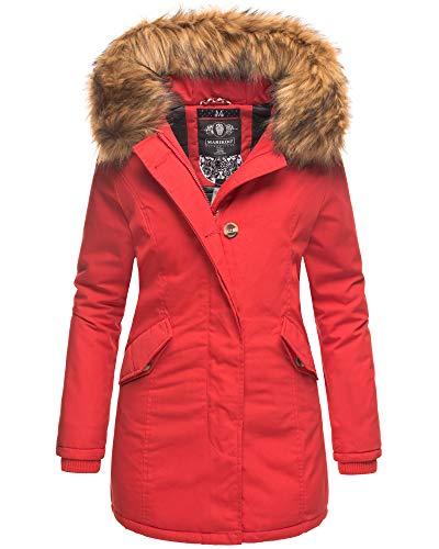 bester Test von extrem warme winterjacke damen Maricu Damen Winterjacke Quilten Parka Mantel KARMAA Warme Winterjacke mit Kunstfellfutter XS-XXL…