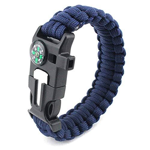 XCHUNA Bracelet de Survie en Plein air, Outils de Camping Multifonctions tressés Paracord, Poignet de Couteau de sifflet de Secours de Corde d'urgence,B