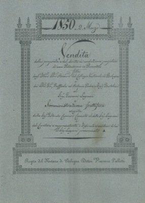 Vendita di una proprieta' e del diritto di conduzione perpetua di una possessione denominata