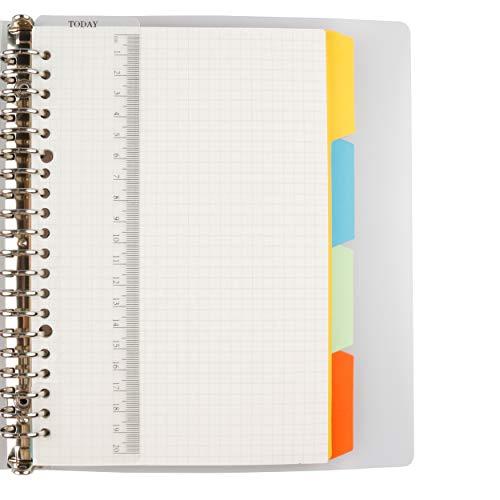 AMO HERMOSO Notizbuch A5 kariert Spiralblock, Softcover Spiral Squared Paper Notebook, 80gsm, 120 Seiten