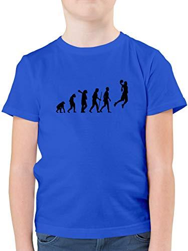 Evolution Kind - Basketball Evolution - 164 (14/15 Jahre) - Royalblau - Basketball Shirt Jungen - F130K - Kinder Tshirts und T-Shirt für Jungen